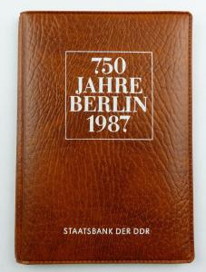 #e8694 Münz-Souvenir 750 Jahre Berlin DDR 1987 Staatsbank der DDR 5 Mark Münzen