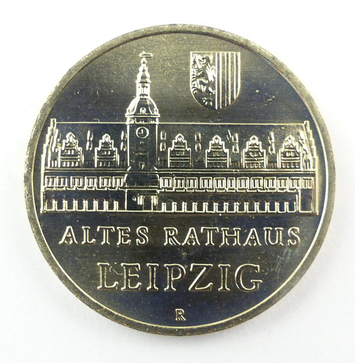 #e8668 DDR 5-Mark-Gedenkmünze von 1984 - Altes Rathaus Leipzig - R - A