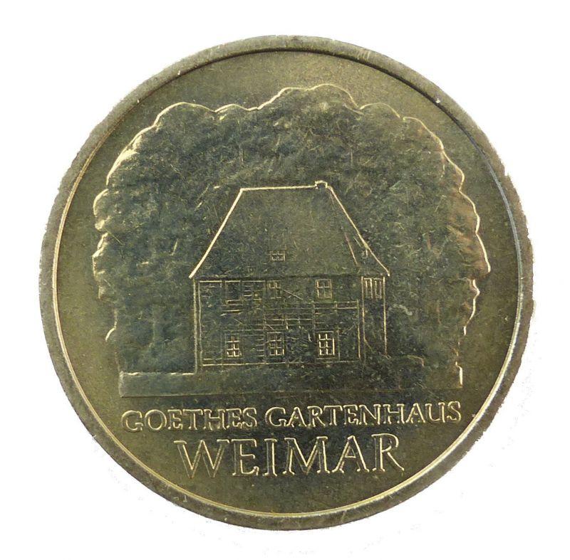 #e8664 DDR 5-Mark-Gedenkmünze von 1982 - Goethes Gartenhaus Weimar - A