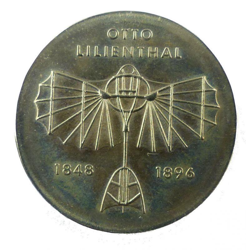 #e8661 DDR 5-Mark-Gedenkmünze von 1973 - Otto Lilienthal 1848-1896