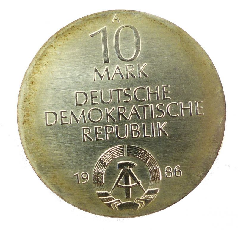 #e8660 DDR 10-Mark-Gedenkmünze von 1986 - A - Charité Berlin 2