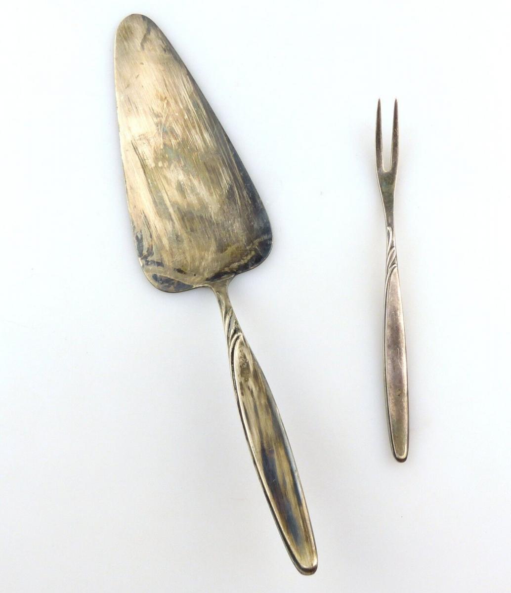 #e8814 Tortenheber und Vorlegegabel von WMF in 90er Silberauflage
