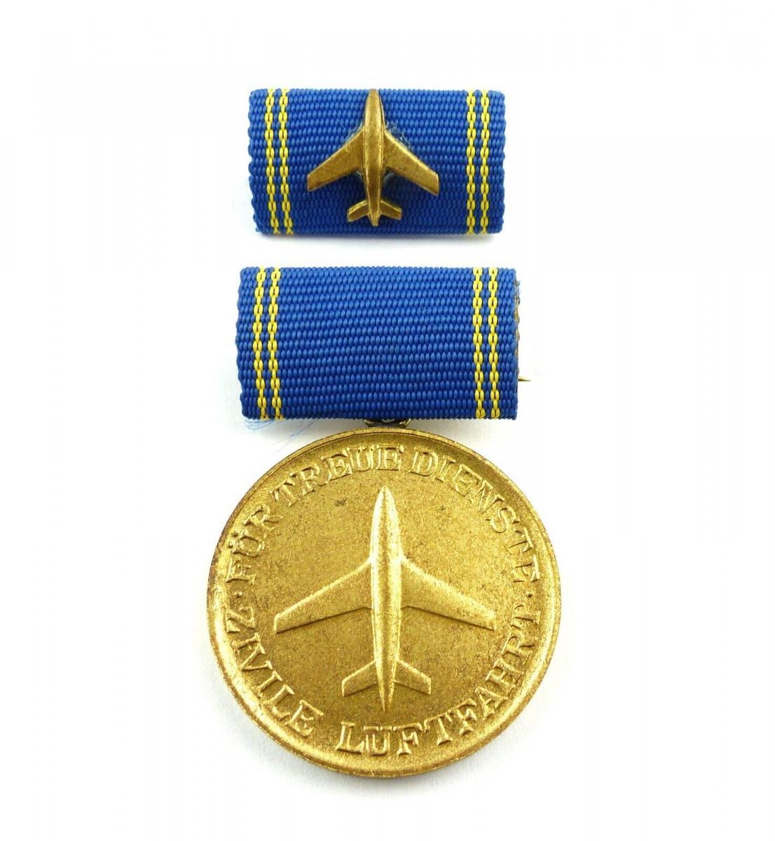 #e8731 Medaille für treue Dienste in der zivilen Luftfahrt goldfarben Nr. 188 b