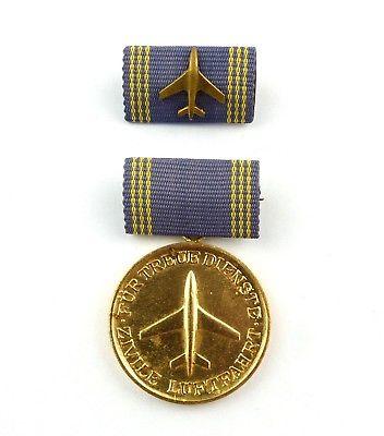 #e8724 Medaille für treue Dienste in der zivilen Luftfahrt goldfarben Nr. 187 b