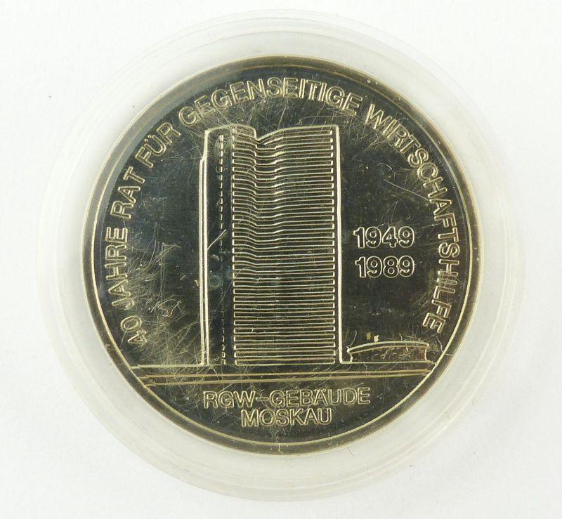 #e8865 Original alte DDR 10-Mark-Gedenkmünze von 1989 RGW-Gebäude Moskau