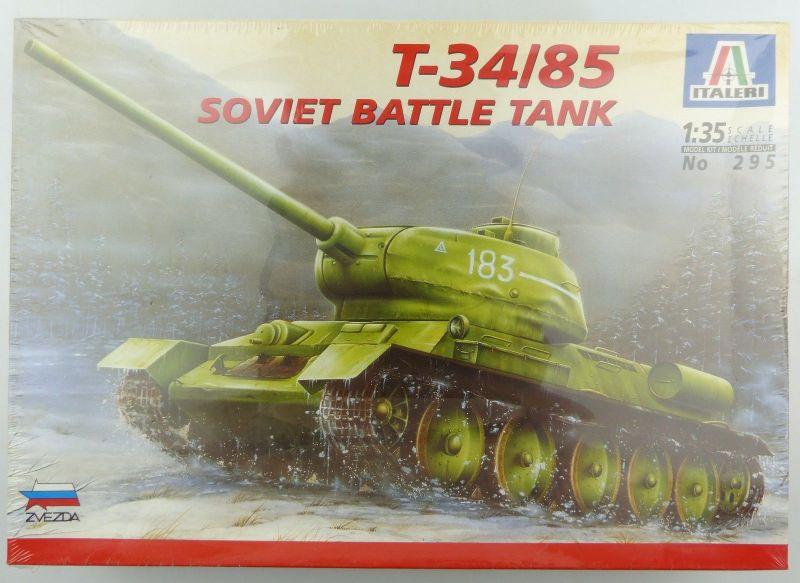 #e8828 Modellbausatz Maßstab 1:35 Panzer T-34 / 85 (Italeri no. 295)
