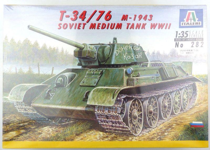 #e8824 Modellbausatz 1:35 Panzer T-34 / 76 M-1943 WWII (Italeri no. 282)