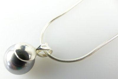 #e2151 Perlen Ohrstecker und dazu passende Kette mit Perle in 925er Silber 1