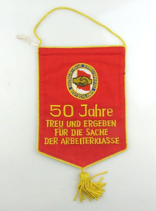 #e8365 Alter DDR Wimpel 50 Jahre treu und ergeben SED FDJ Arbeiterklasse
