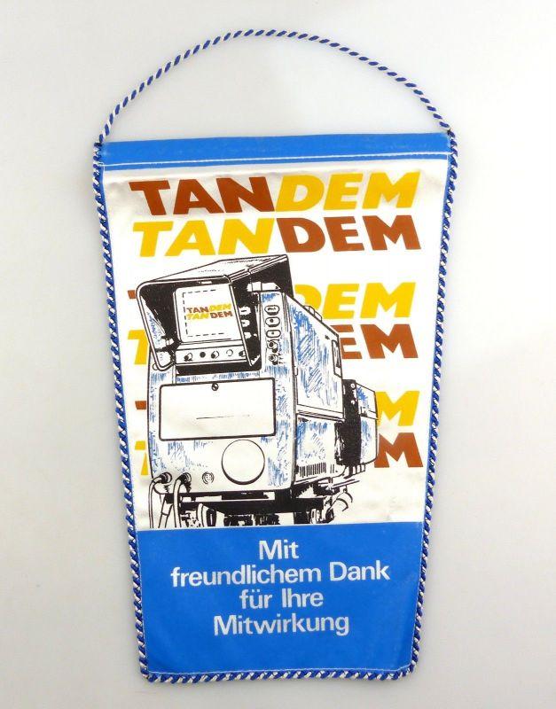 #e8364 DDR Wimpel Tandem Fernsehen der DDR Sport Unterhaltung