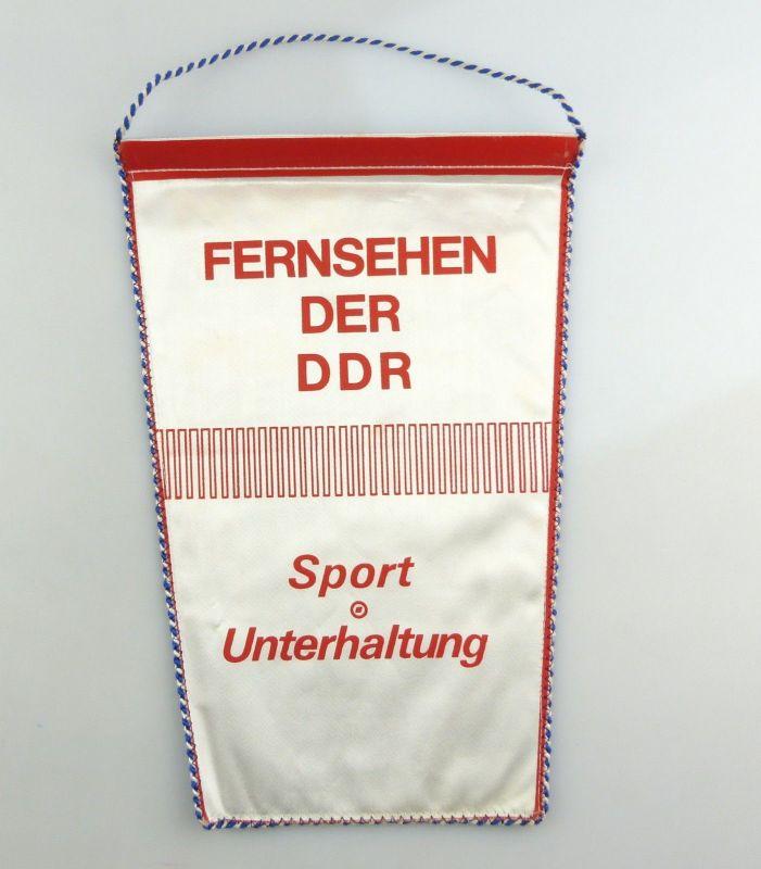#e8364 DDR Wimpel Tandem Fernsehen der DDR Sport Unterhaltung 1