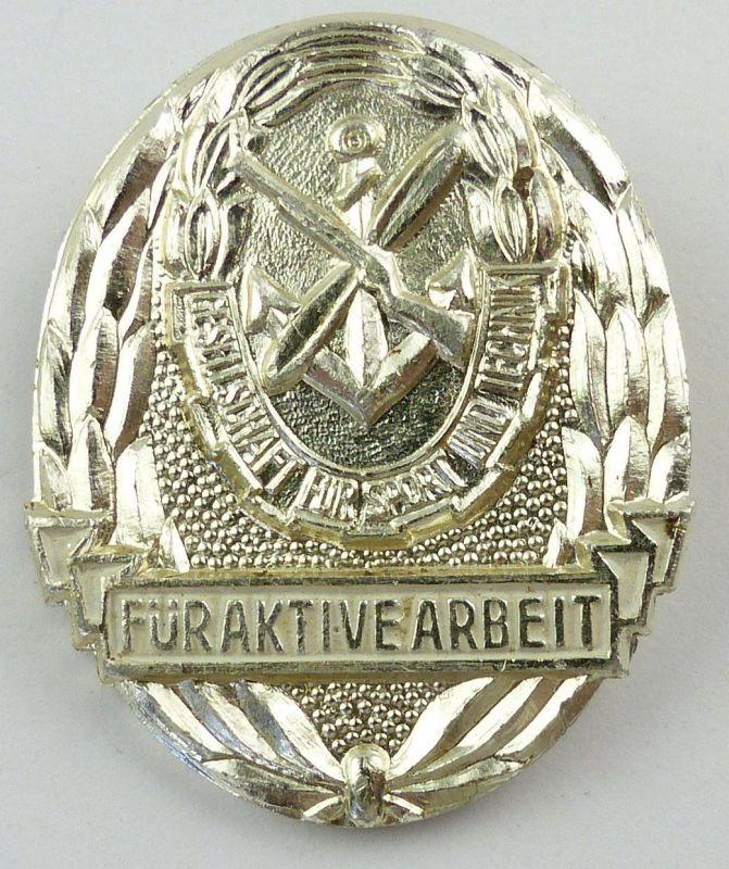 #e8974 Seltenes Muster ! Medaille für aktive Arbeit in der GST Nr. 11 f