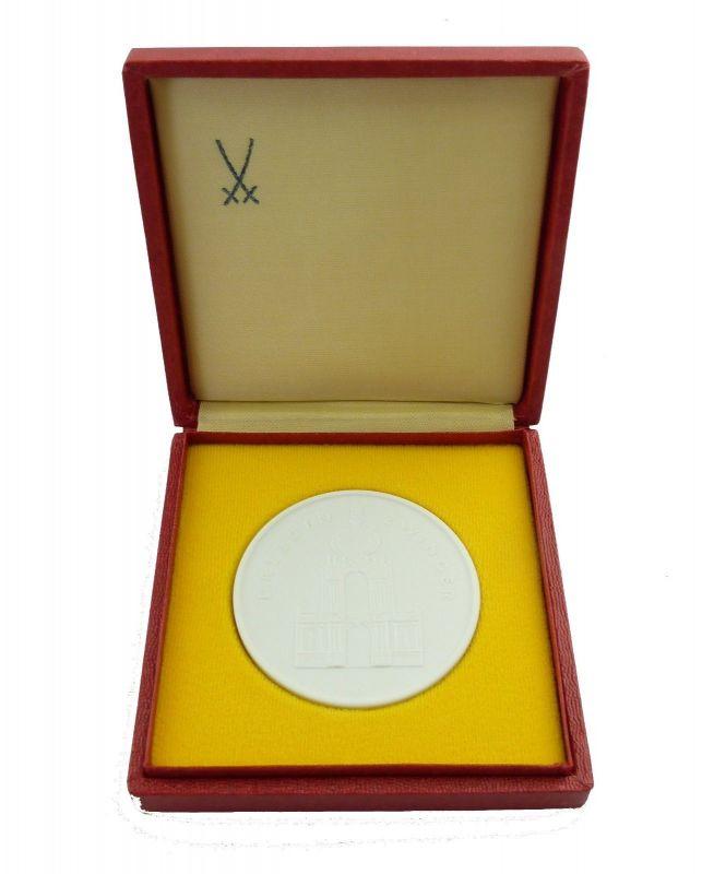 #e8995 Meissen Medaille Dresden Zwinger Zur Erinnerung Rat der Stadt Dresden