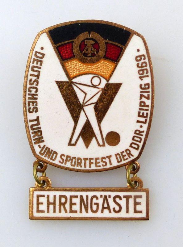 #e9097 Deutsches Turn- und Sportfest der DDR Leipzig 1969 Ehrengäste Abzeichen