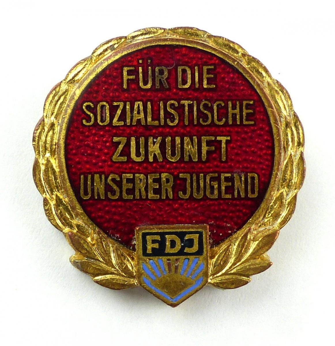 E9114 DDR Abzeichen für die sozialistische Zukunft unserer Jugend FDJ VNr. 1460