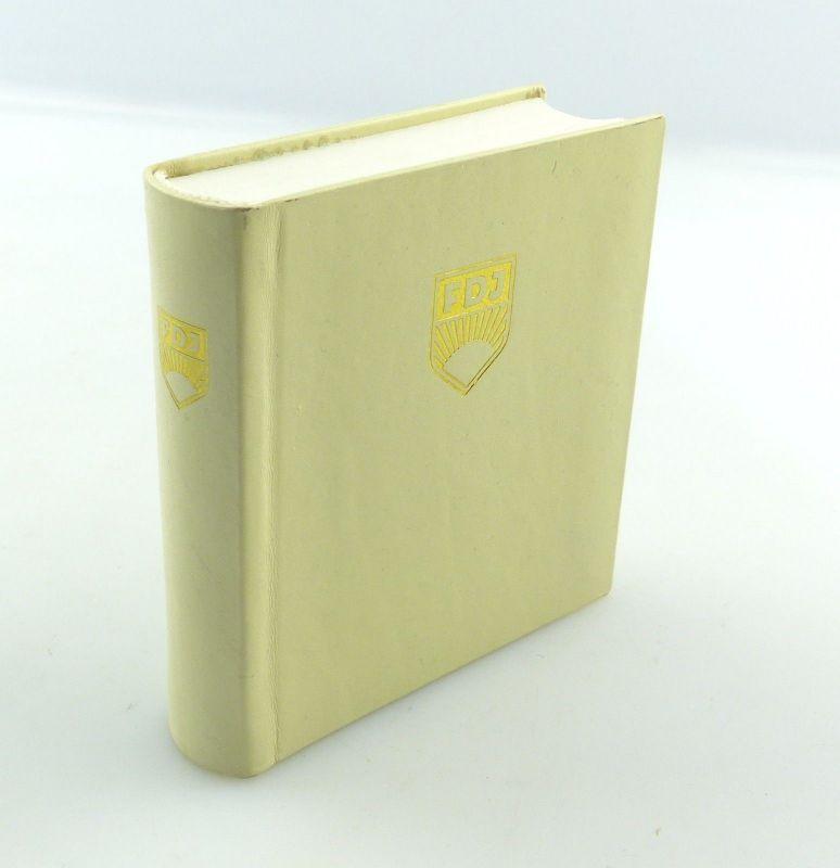 E9206 Minibuch FDJ Freie Deutsche Jugend DDR Verlag Junge Welt Auflage 1 1985