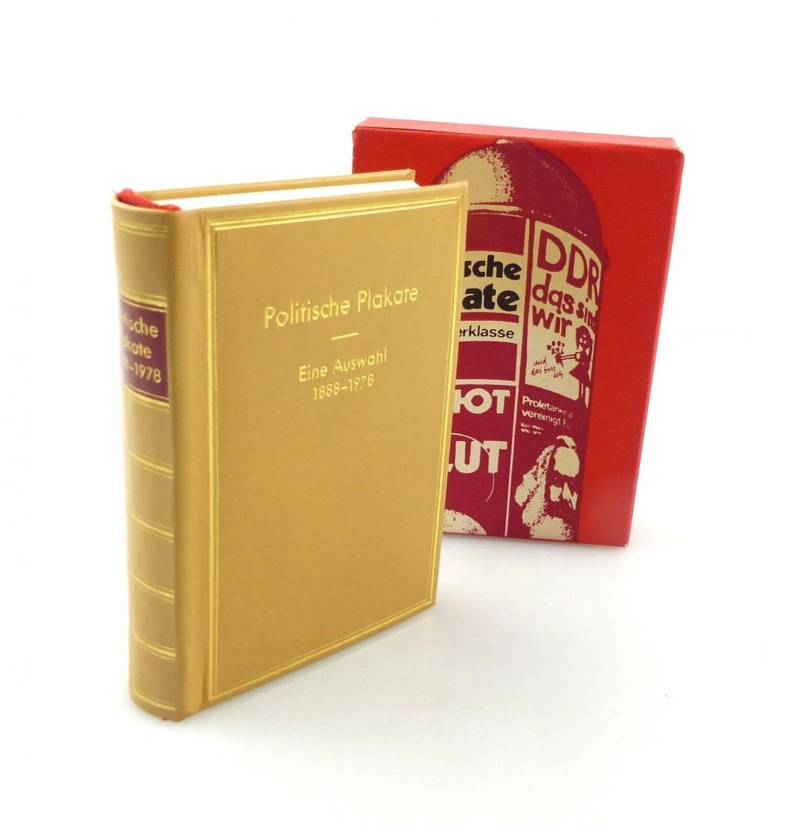 E9205 Minibuch Politische Plakate Eine Auswahl 1888 bis 1978 Auflage 1 von 1979