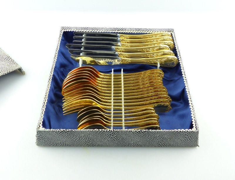 E9191 24 teiliges Besteck hartvergoldet 24 Karat