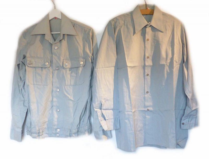 E9216 Original NVA Bluse Größe 36 L und Hemd Größe 38 N DDR