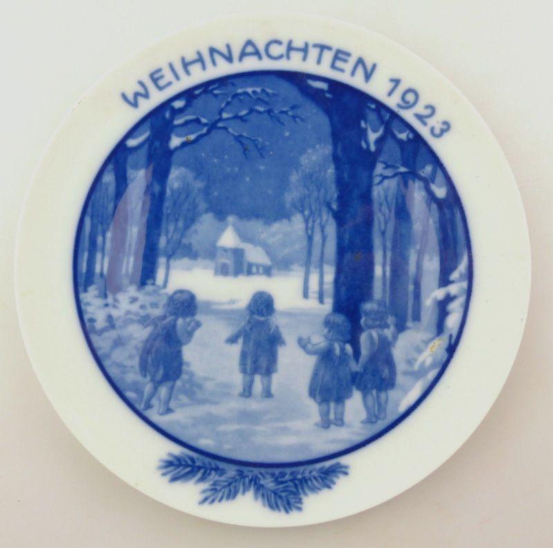 E9301 Rosenthal Weihnachtsteller Weihnachten 1923 Entwurf Ernst Haefer Berlin