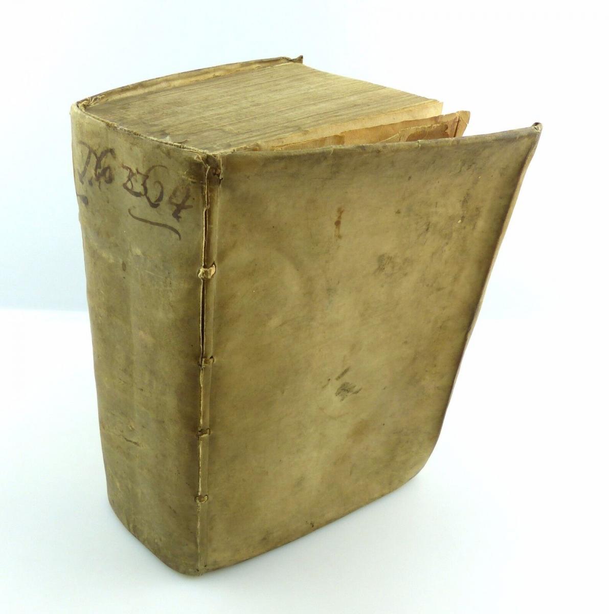 #e5213 Original altes Buch 1650 corpus juris canonici - Gesetze für Priester