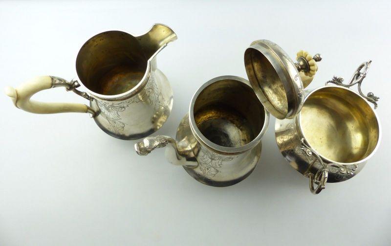 #e5212 Großes 800 (Ag) Silber Kernstück / Service mit Wasserkessel J.C.Klinkosch 11