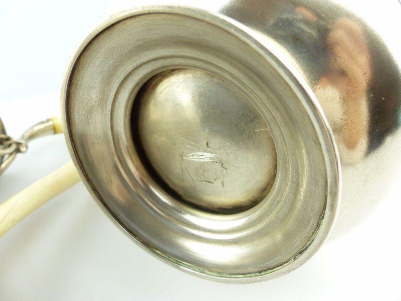 #e5212 Großes 800 (Ag) Silber Kernstück / Service mit Wasserkessel J.C.Klinkosch 7