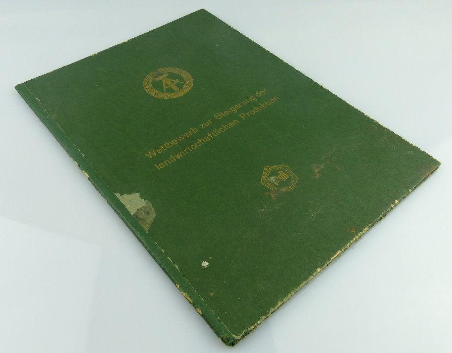 Urkunde Wettbewerb herv. Leistungen landwirtschaftliche Produktion Orden1923