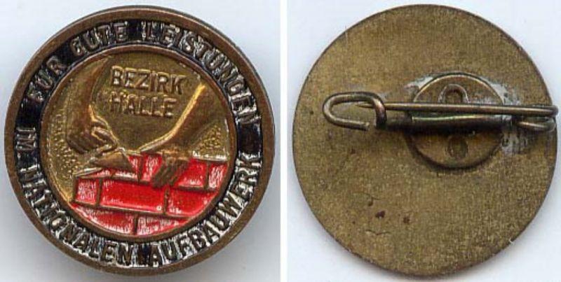 DDR Aufbaunadel des Bezirkes Halle 1955-1958 in Gold