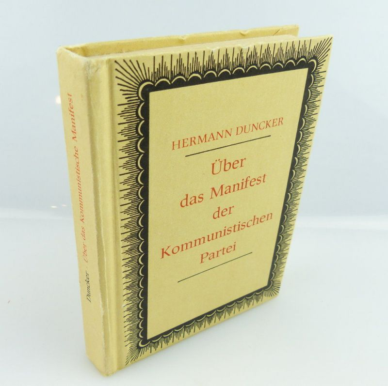 Minibuch: über das Manifest der kommunistischen Partei Hermann Duncker e372