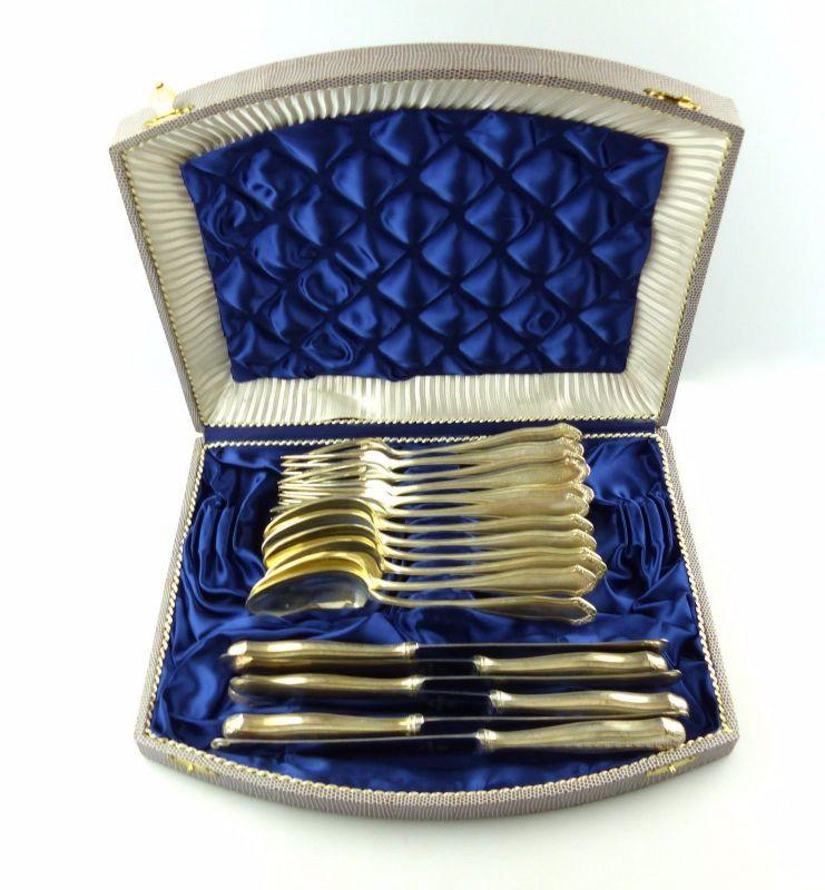 #e6685 Versilbertes Besteck für 6 Personen WMF 90er Silberauflage 18 tlg.