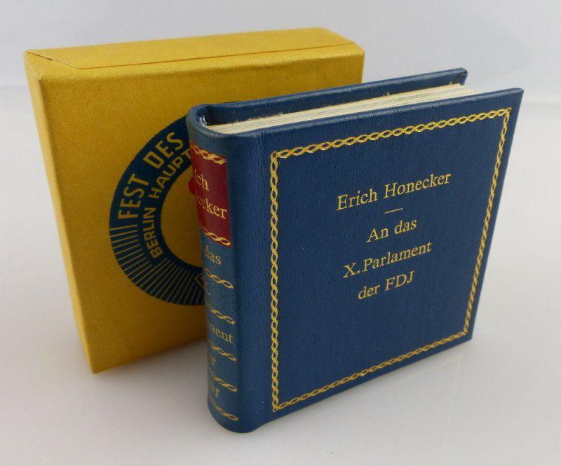 Minibuch: Erich Honecker - An das X. Parlament der FDJ e061