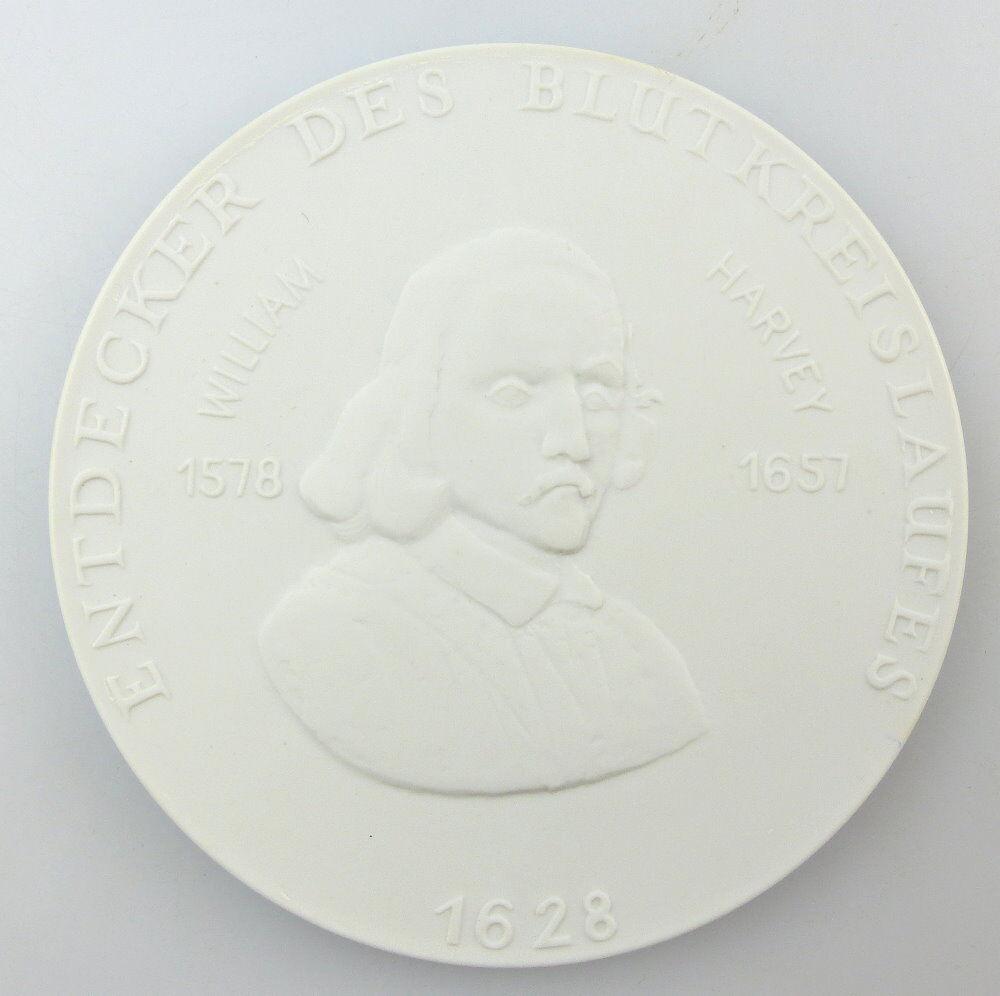 #e3744 Meissen Medaille DRK Entdecker des Blutkreislaufes William Harvey 1628