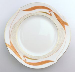 #e4238 Meissen Porzellan Teller / Wellenspiel mit Wasservögeln 1. Wahl
