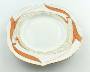 #e4232 Meissen Porzellan Teller / Wellenspiel mit Wasservögeln 1. Wahl