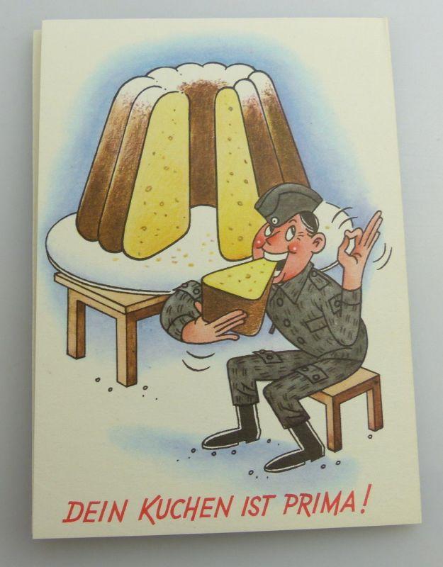 Postkartenserie: 10 Postkarten mit Zeichnungen, Militärverlag der DDR, so323 2