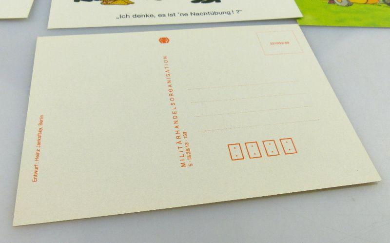Postkartenserie: 10 Postkarten mit Zeichnungen, Militärverlag der DDR, so323 4
