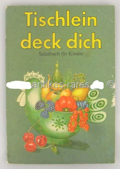 Tischlein deck dich, Salatbuch für Kinder 1988