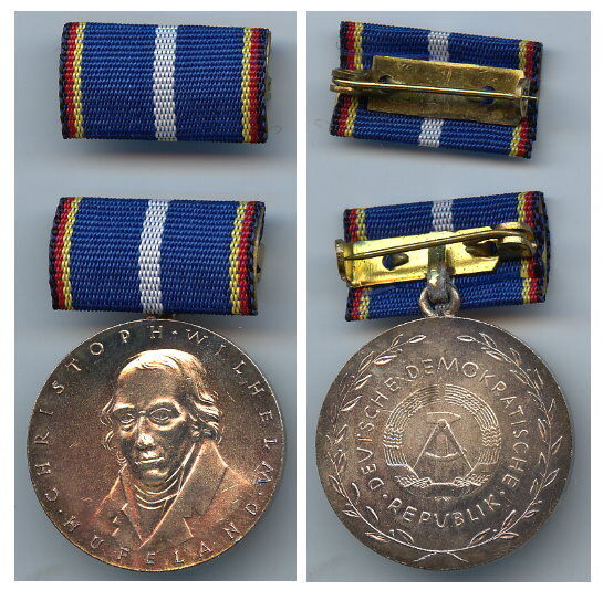 Or0076 Original alte Hufeland Medaille der DDR in Silber