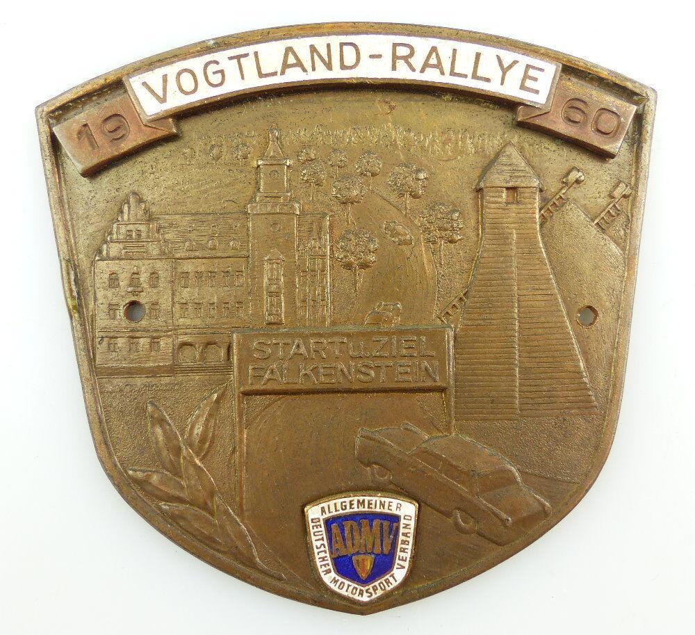 #e3376 Alte DDR Plakette 1960 Vogtland - Rallye Start und Ziel Falkenstein ADMV