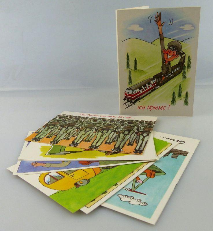 Postkartenserie: 10 Postkarten mit Zeichnungen, Militärverlag der DDR, so321
