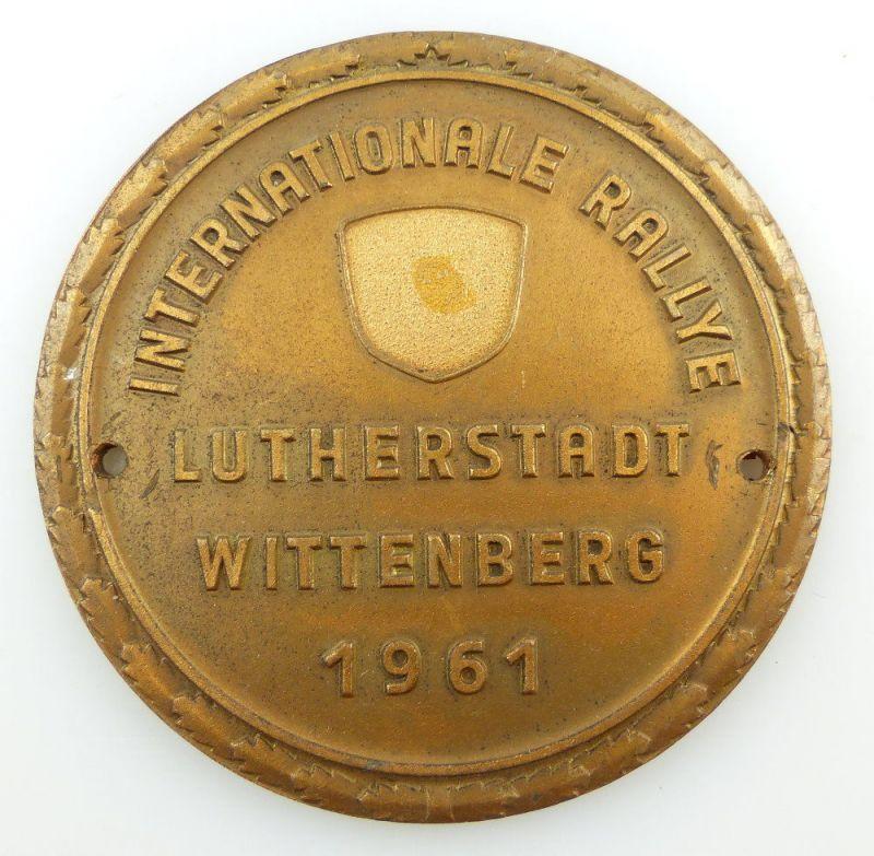 #e3372 Alte DDR Plakette Internationale Rallye Lutherstadt Wittenberg 1961