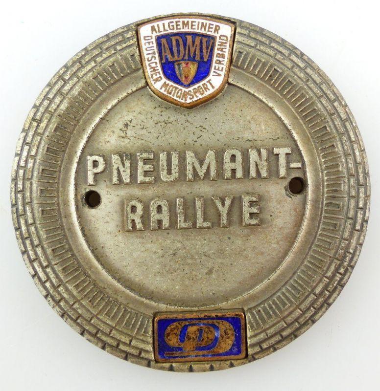 #e3371 Alte DDR ADMV Plakette Pneumant Rallye Rund um Berlin 1961 Motorsport
