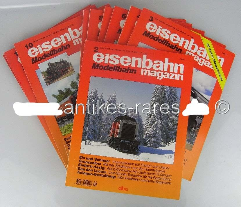 Konvolut 11 Zeitschriften: Eisenbahn Modellbahn Magazin 36. Jahrgang 1998