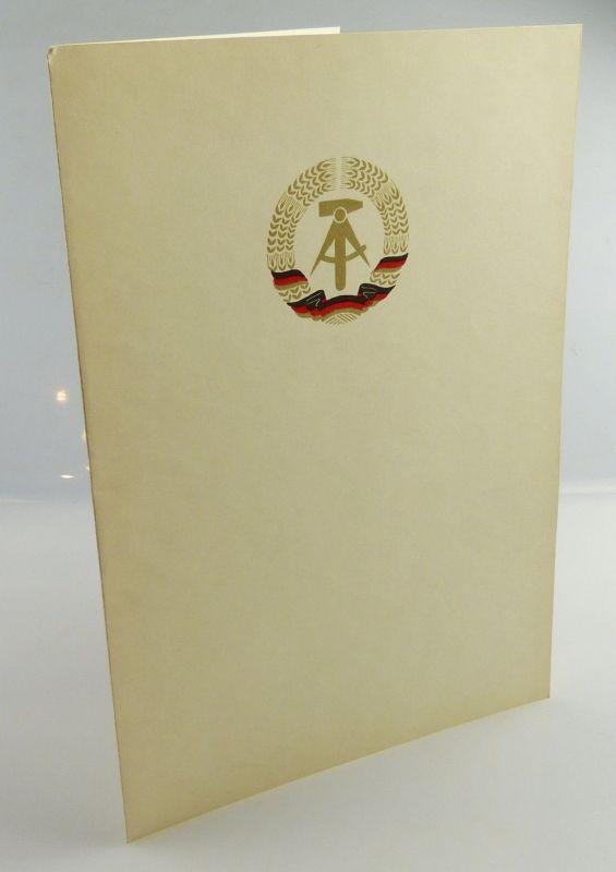 Blanco DDR Urkunde, so275