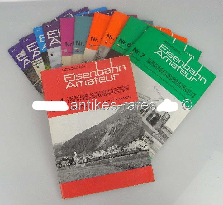 Konvolut 11 Zeitschriften: Eisenbahn Amateur