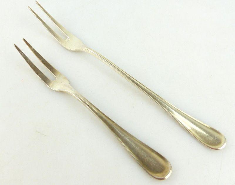 2 original alte WMF Vorleger /Vorlegegabeln in 90er Silberauflage e1799