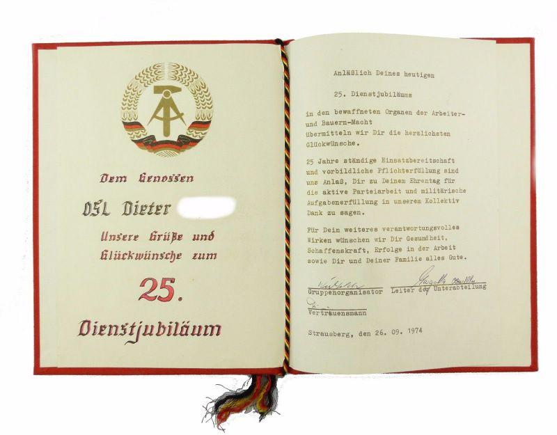 E6996 Glückwünsche Zum 25 Dienstjubiläum In Den Bewaffneten Organen 1974