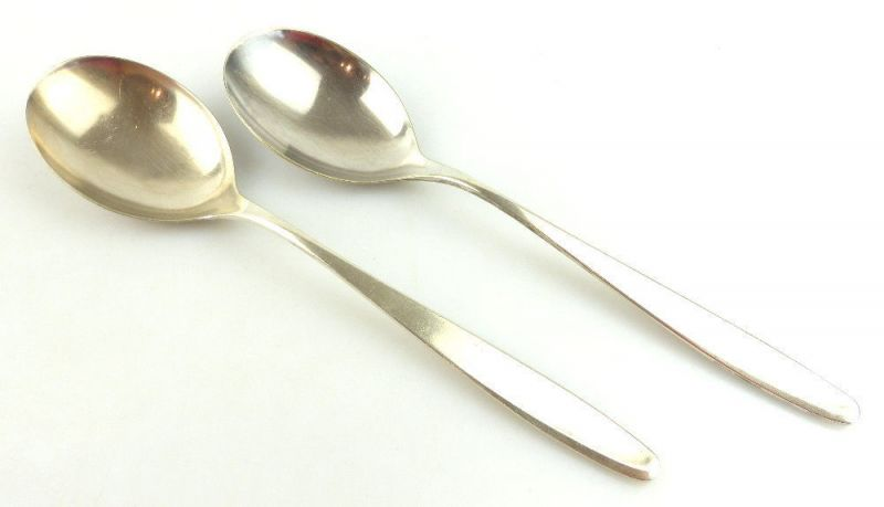 2 original alte WMF Salatlöffel /Vorlegelöffel in 90er Silberauflage e1794