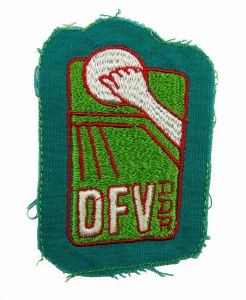 #e5953 Original alter DDR Aufnäher * DFV * Deutscher Faustball-Verband der DDR